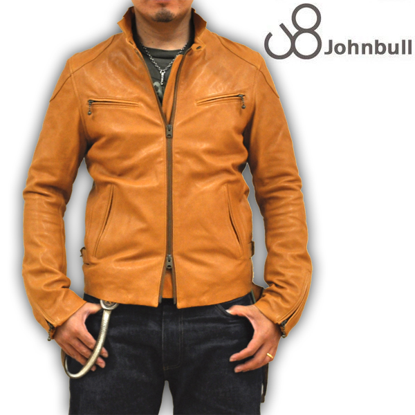 王道のスタイル!JOHNBULL(ジョンブル) メンズ シングルライダージャケット レザージャケット 本革 ラムレザー 16397 40 送料無料