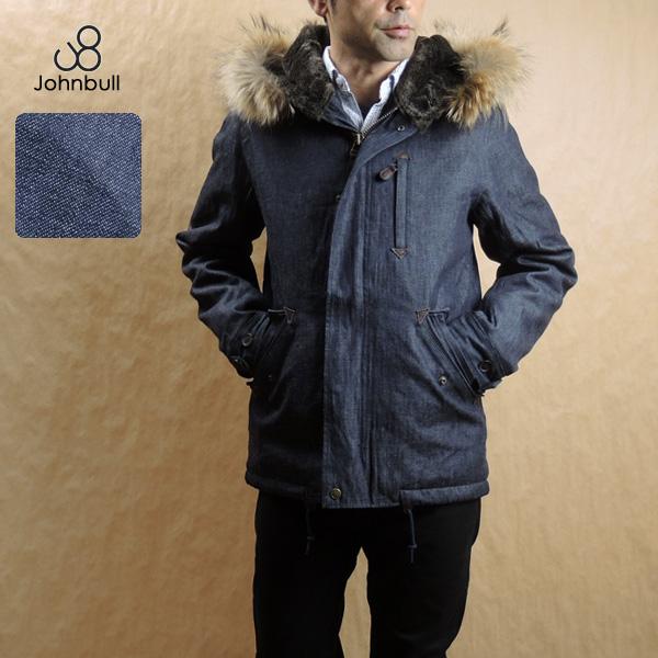 スマートに着こなす大人のミリタリージャケット♪JOHNBULL(ジョンブル) メンズ 16456 ライトオンス デニム ショートフードジャケット 送料無料