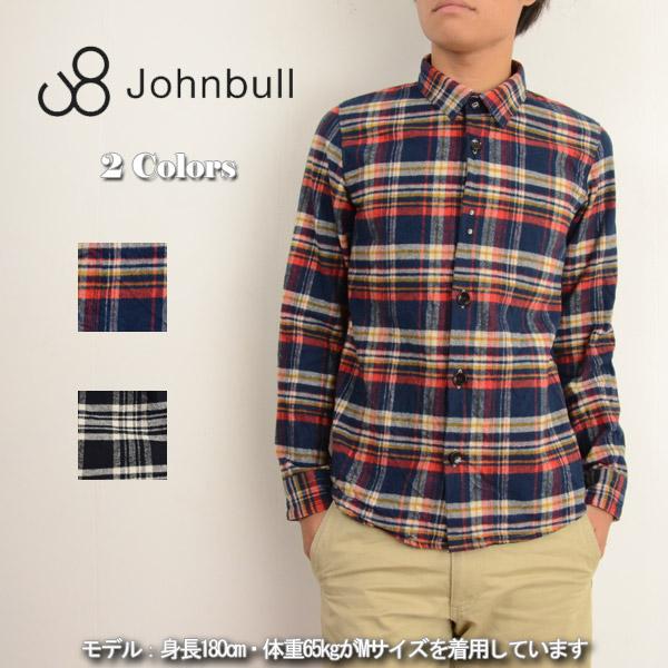 暖かみがあり季節感の出るシャツ♪JOHNBULL(ジョンブル) メンズ ヘビーチェックシャツネルチェックCPO 13260 送料無料