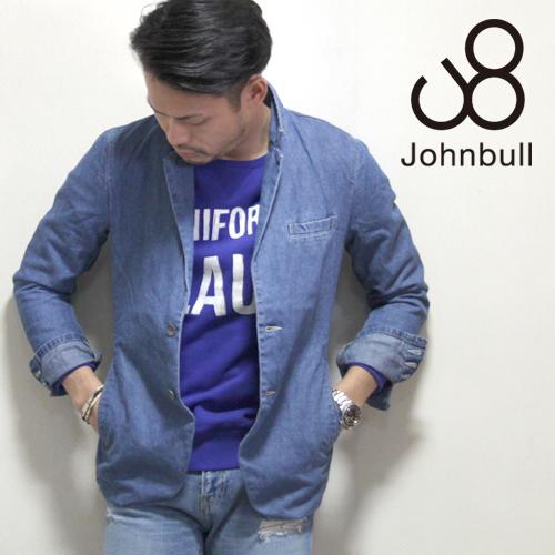 カジュアルに取り入れやすいインディゴ染め♪JOHNBULL(ジョンブル) メンズ  ブリーチデニムテーラードジャケット クェード 12358 17 送料無料