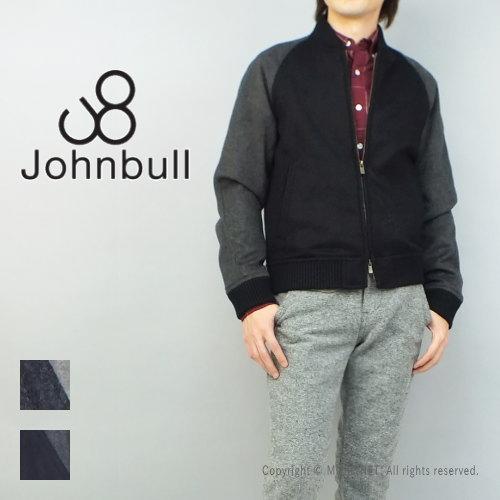 いま、大注目のリブ襟ブルゾン♪JOHNBULL(ジョンブル) メンズ メンズ スタジャン モヘヤウールブルゾン 12387 送料無料