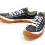 スピングルムーヴの原点モデル♪<br>SPINGLE MOVE(スピングルムーブ) レザー スニーカー Black/Orange ブラック/オレンジ SPM-101 日本製 Made in JAPAN 送料無料