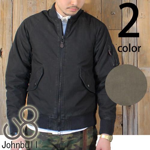 ジョンブルアウター定番のNCシリーズ♪JOHNBULL(ジョンブル) メンズ N/Cオックス MA-1 フライトジャケット 16447 送料無料