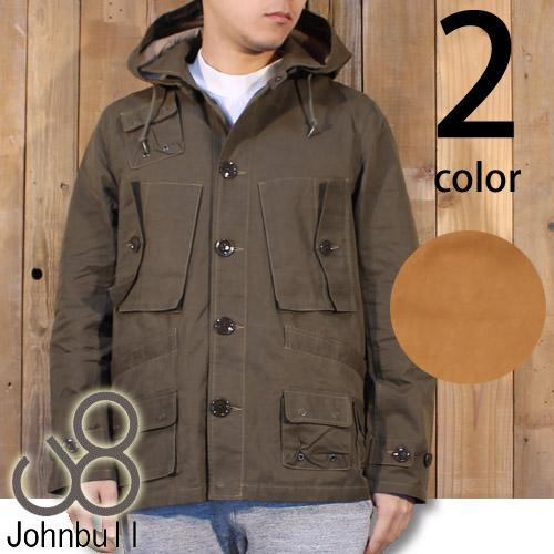 細身の洗練されたスタイル♪JOHNBULL(ジョンブル) メンズ フーデッド ミリタリー ジャケット 12320 送料無料