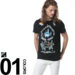 個性的なデザインのフロント刺繍が魅力的♪<br>DIESEL(ディーゼル) 刺繍 クルーネック 半袖 Tシャツ DSS03L091B 送料無料