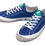 スピングルロゴのワンポイント♪<br>SPINGLE MOVE(スピングルムーブ) レザー 革 スニーカー ブルー Blue SPM-106 日本製 Made in JAPAN White 送料無料